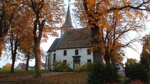 Protestantische Kirche Herbst