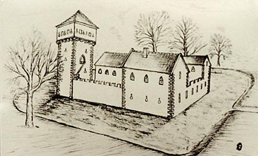 Rekonstruktion der Burg Friedelsheim um 1420